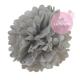 Paper pompom - 25cm - Sweet grey