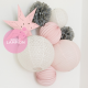 chambre rose et gris pour une petite fille ou un bébé