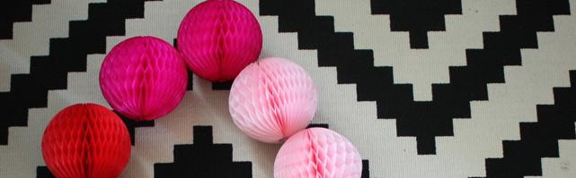Honeycomb balloons - 30cm