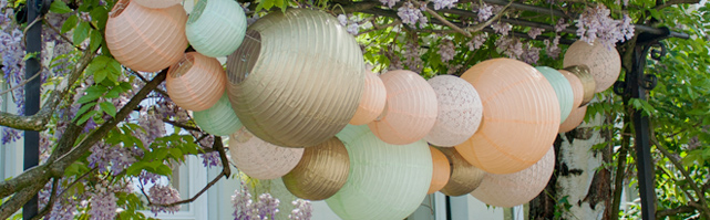 Easy to make paper lantern garlands