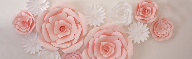 Wall paper flowers