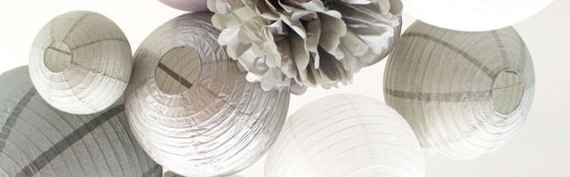 Une décoration de mariage d'hiver en gris et blanc