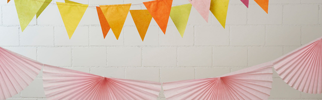 Tissue fans bunting