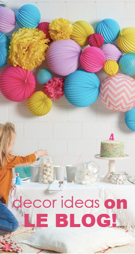party and home decor ideas on our blog