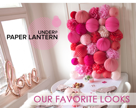 paper lanterns in one of a kind colors