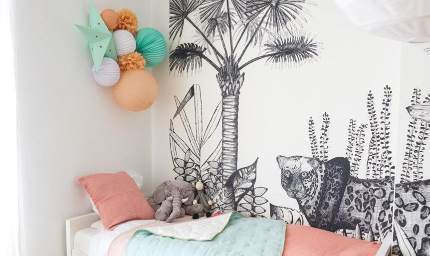 Chambre bébé et enfant: des lampions pour la décoration murale