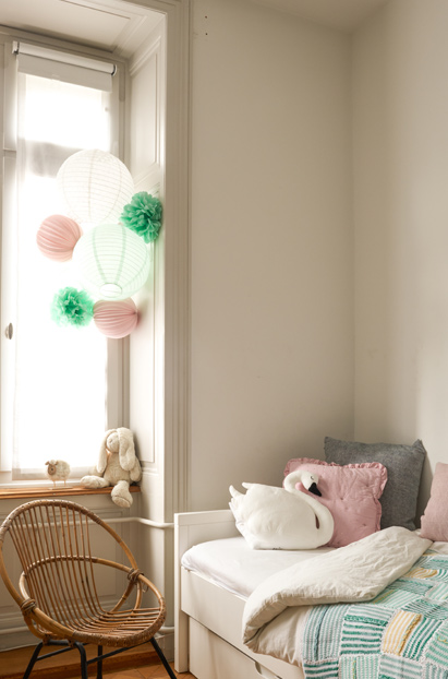 kit de lampions mint et rose pâle sous le lampion