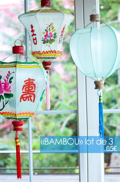 lampions chinois en tissus déco d'intérieur