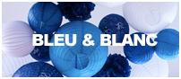 décorations mariage bleu et blanc