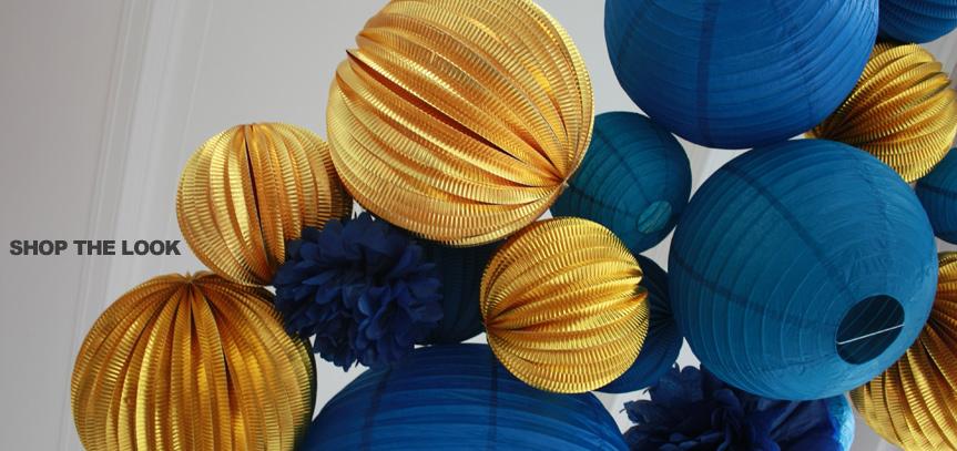 décoration bleu et doré pour mariage