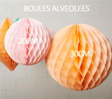 Boules alvéolées tailles