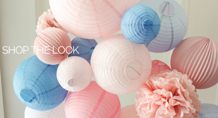 mariage rose et bleu décoration