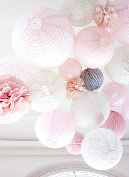 lanternes roses mariage