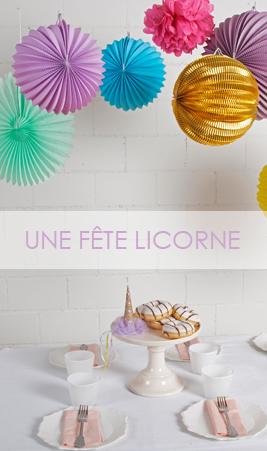 décoration pour une fête licorne