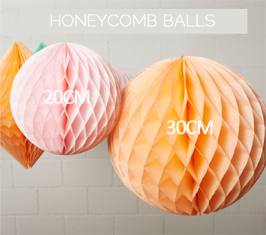 Honeycomb ball sizes