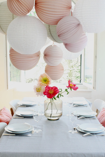 decoration table de bapteme