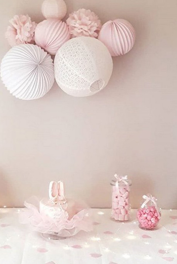 decoration buffet de bapteme