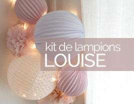 kit de lampions déco rose louise