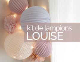 kit de lampions déco rose louise