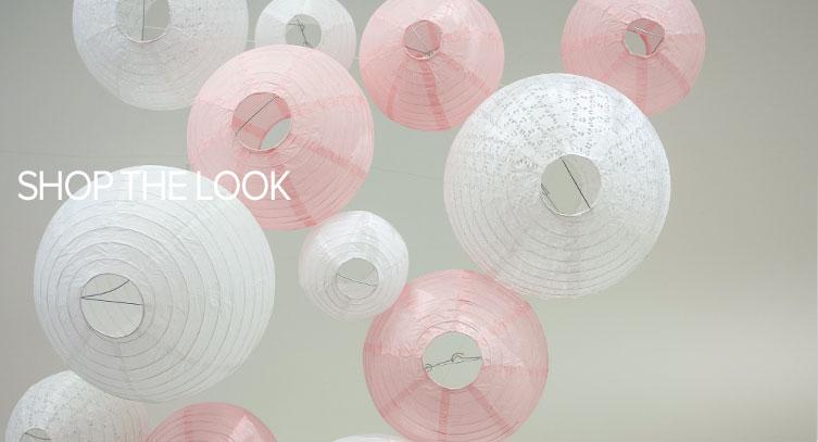 lanternes mariage rose et blanc