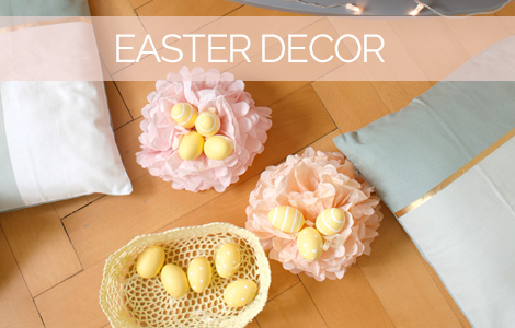 Easter decor lanterns