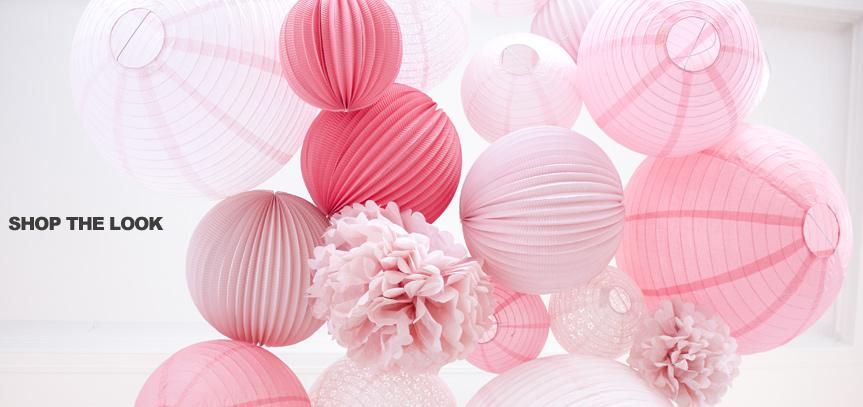 lanternes en papier rose pour un mariage