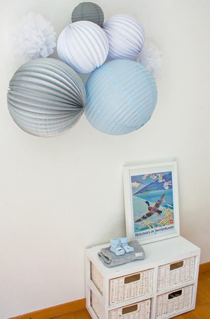 deco murale chambre de bebe garcon kit de lampions sous le lampion
