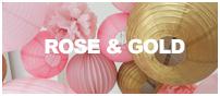 décoration de mariage rose et doré