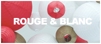 décorations en rouge et blanc