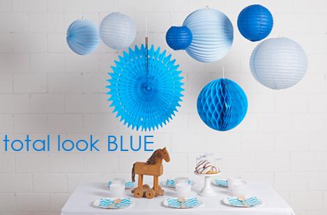 Déco bleu pour une fête d'anniversaire ou un baptême de garçon