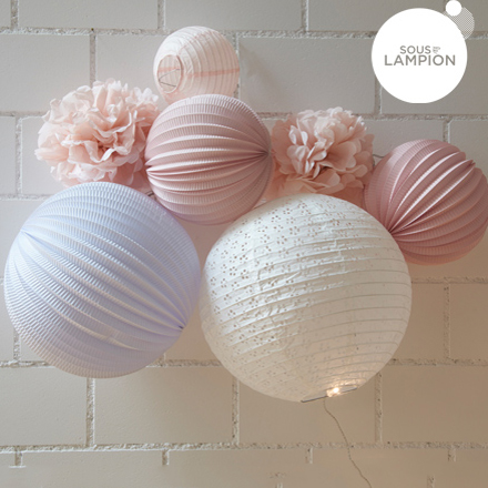idée cadeau kit lampions rose pastel pour petite fille