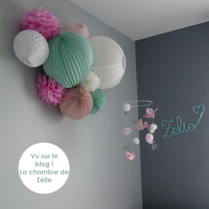 Déco chambre fille vert menthe et rose