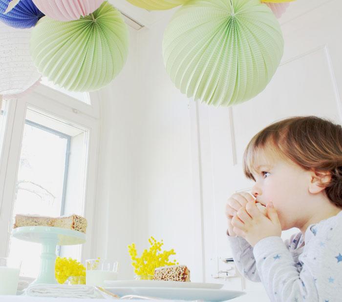 décoration fête enfant pastel