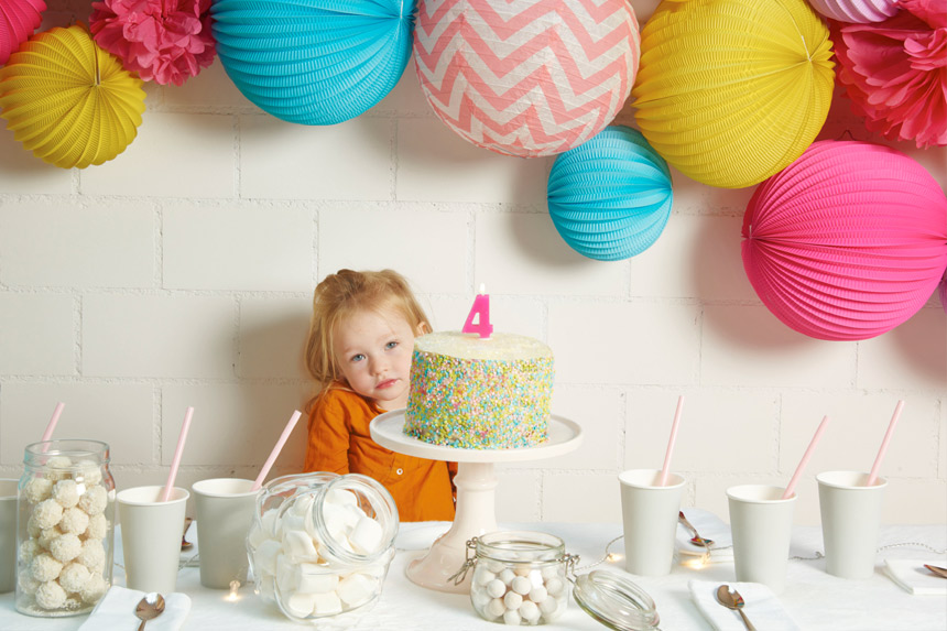 Kids paper lanterns for birthday parties