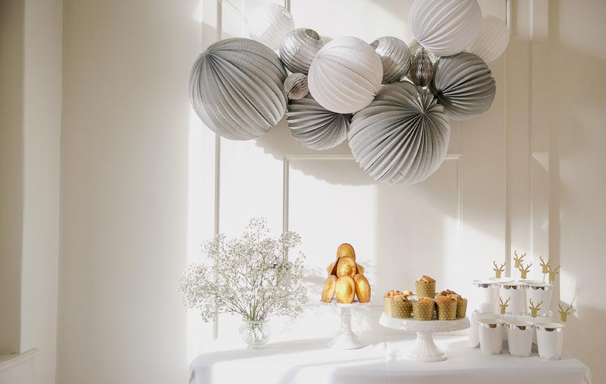 Idées déco buffet de Noël et réveillon - Sous Le Lampion
