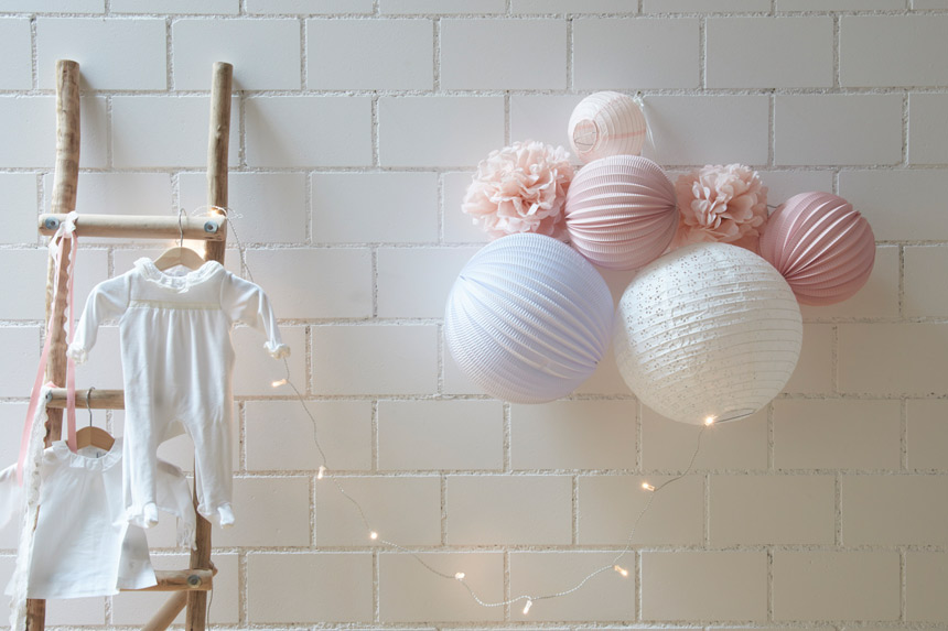 Affordable baby girl nursery decor idea