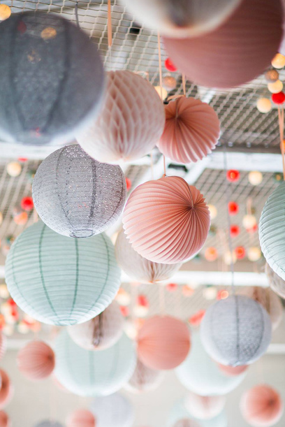 Paper lanterns for a wedding