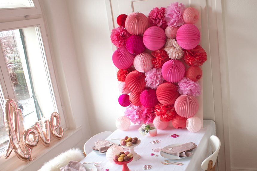 paper lanterns wall decor