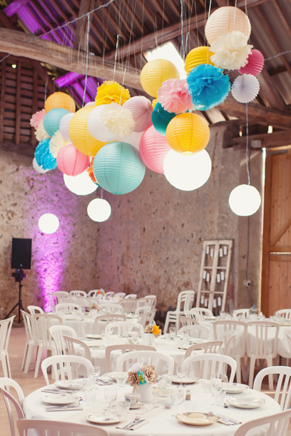 Wedding paper lanterns