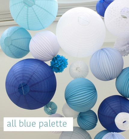 All blue wedding decor