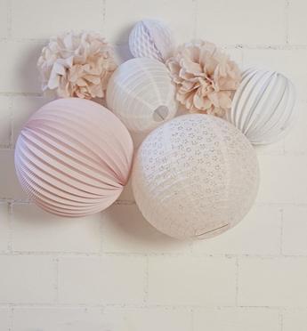idée cadeau kit lampion rose pastel