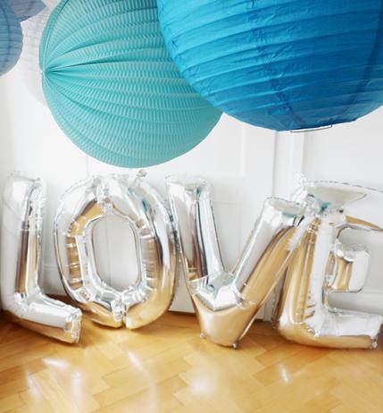 Ballons LOVE mariage