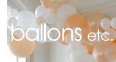 ballons et fanions pour décoration de fêtes