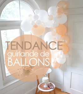 guirlandes de ballons pour décorer une fête