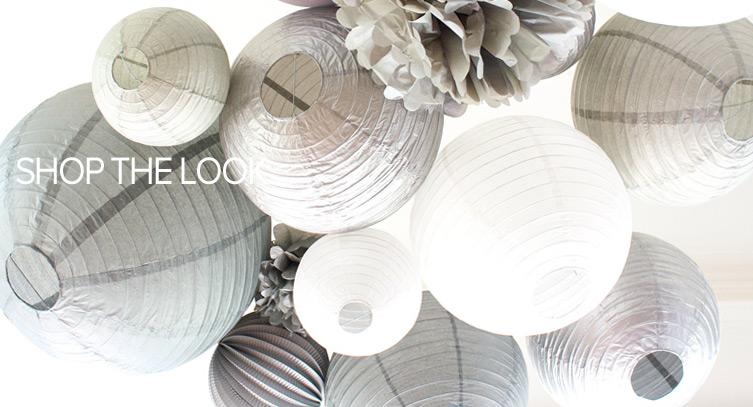 mariage en gris et blanc décoration