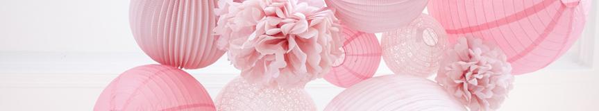 lanternes mariage rose