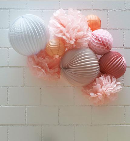 Lampions roses pour chambre de bébé