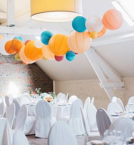 Lanterne mariage: décoration de plafond