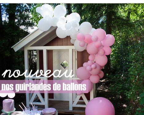 guirlande de ballons pour décorer un anniversaire d'enfant ou un mariage
