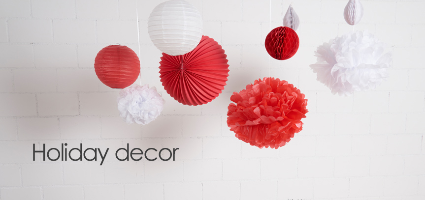 decorating the Holidays with paper lanterns